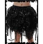 Layered adjustable Lace Mini Skirt