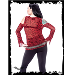 Red Leopard Pattern Long-Sleeve