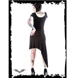 Asymmetric Dress with Zipper