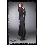 Long black dress with ribcage bones