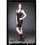 Black Vest-Dress with Ribcage
