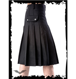 Black kilt with buckles and side pocket