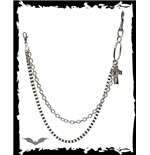 Chrome double-chain with pendants