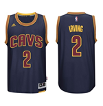 Mens Cleveland Cavaliers Kyrie Irving adidas Navy Blue New Swingman CavFanatic Jersey