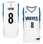 Mens Minnesota Timberwolves Zach Wiggins adidas White New Swingman Home Jersey