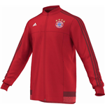 2015-2016 Bayern Munich Adidas Anthem Jacket (Red)
