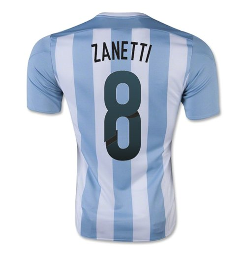 2015-16 Argentina Home Shirt (Zanetti 8) - Kids