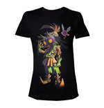 NINTENDO Legend Of Zelda Men's Skull Kid Majoras Mask T-Shirt, Small, Black