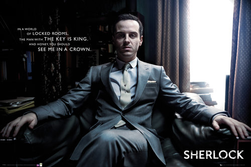 Sherlock Moriarty Chair Maxi Poster