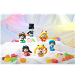 Sailor Moon Petit Chara Pretty Soldier Trading Figure 6 cm Make Up with Candy Assortment (6)
