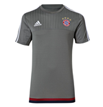 2015-2016 Bayern Munich Adidas Training Shirt (Grey)