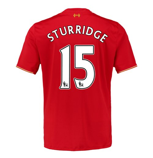 2015-16 Liverpool Home Shirt (Sturridge 15) - Kids