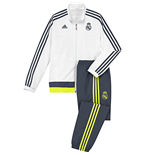 2015-2016 Real Madrid Adidas Presentation Tracksuit (White) - Kids