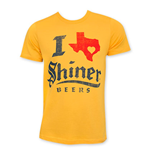Shiner I Heart Texas Yellow T-Shirt