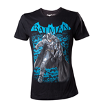 DC COMICS Batman Men's Arkham Knight Fighting Stance T-Shirt, Small, Black