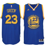 Mens Golden State Warriors Draymond Green adidas Royal Blue New Swingman Road Jersey