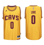 Mens Cleveland Cavaliers Kevin Love adidas Gold New Swingman Alternate Jersey