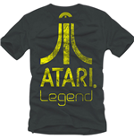 ATARI Legend Logo Small T-Shirt, Anthracite/Dark Grey