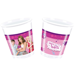 Violetta Plastic Glasses Set