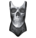Solemn Skull - Allover Scoop Back Padded Swimsuit