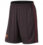 2015-2016 AS Roma Nike Longer Knit Shorts (Mahogany)