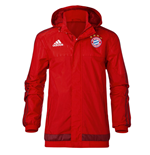 2015-2016 Bayern Munich Adidas Rain Jacket (Red)