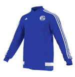 2015-2016 Schalke Adidas Anthem Jacket (Blue)
