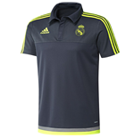 2015-2016 Real Madrid Adidas CL Polo Shirt (Grey)
