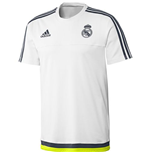 2015-2016 Real Madrid Adidas Training Tee (White)