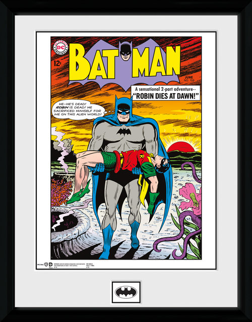 Batman Comic Robin Dies at Dawn Framed Collector Print