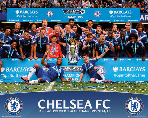Chelsea Premier League Winners 14/15 Mini Poster