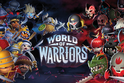 World of Warriors Characters Maxi Poster