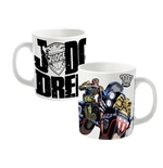 2000AD Judge Dredd Mug Bike Action Shot