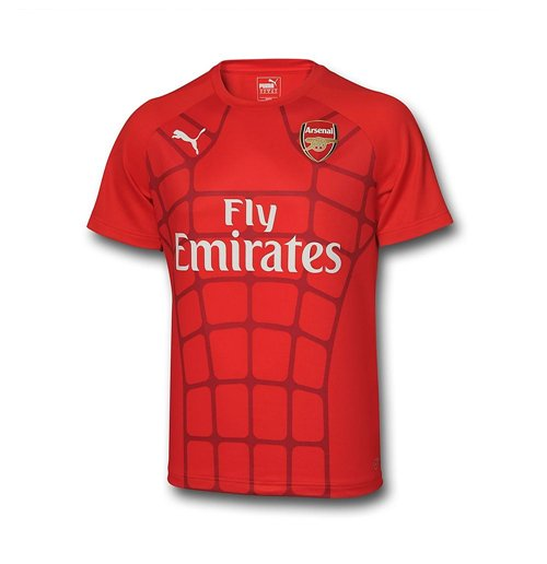 2015-2016 Arsenal Puma Stadium Tee (Red) - Kids