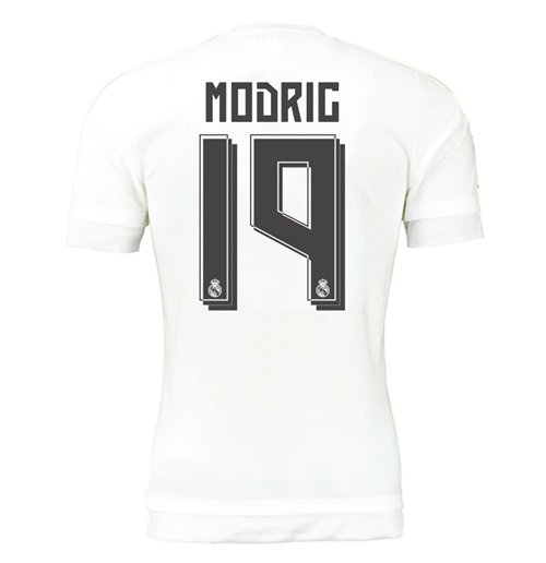 2015-16 Real Madrid Home Shirt (Modric 19) - Kids