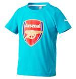 2015-2016 Arsenal Puma Crest Fan Tee (Capri Breeze) - Kids