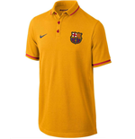 2015-2016 Barcelona Nike Authentic GS Polo Shirt (Gold) - Kids