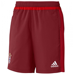 2015-2016 Bayern Munich Adidas Woven Shorts (Red)