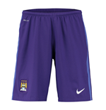 2015-2016 Man City Home Nike Goalkeeper Shorts (Purple) - Kids
