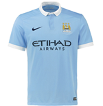 2015-2016 Man City Home Nike Football Shirt