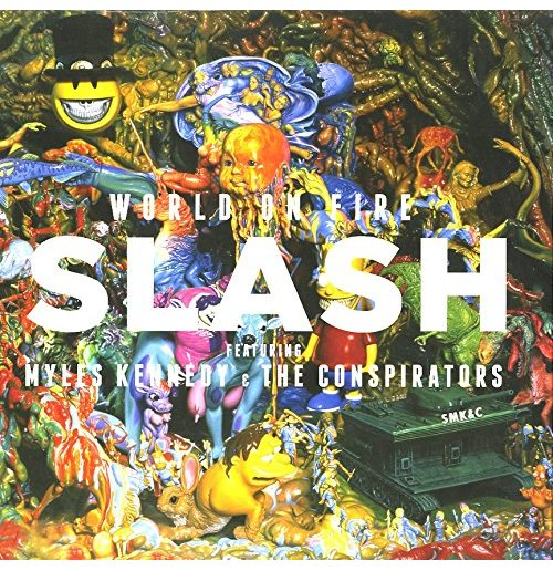 Vynil Slash - World On Fire (Blue & Yellow) (2 Lp)