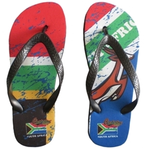 South Africa Rugby Flip Flops