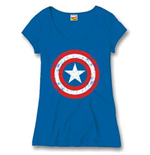 Captain America Girlie T-shirt - Cracked Shield