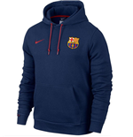 2015-2016 Barcelona Nike Core Hooded Top (Navy)