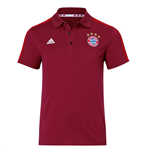 2015-2016 Bayern Munich Adidas 3S Polo Shirt (Red)