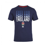 2015-2016 England Rugby Stacked Tee (Navy)