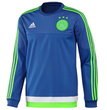 2015-2016 Ajax Adidas Sweat Top (Blue)