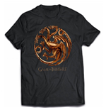 Game of Thrones T-shirt - Chrome Targaryen Sigil