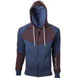 ASSASSIN'S Creed  Blue and Brown Hoodie With Print