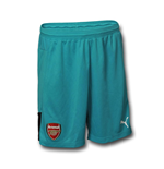 2015-2016 Arsenal Away Goalkeeper Shorts (Capri Breeze) - Kids